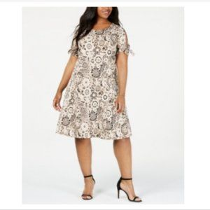 3/$30 Ny Collection Plus Tie-Sleeve Shift Dress
